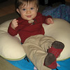 """Oops, I fell back.""  That's why we keep the boppy around him if we're not on the floor with him."