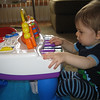 The next few pics are from a play session with the piano.  Chase sat at the piano for quite a long time Monday afternoon.  He was really enjoying himself!