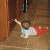 Chase found the cabinets and drawers, luckily, the previous owners have them baby proofed already.