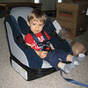 """Sunday, we spent some time getting our travel car seat/stroller ready for the trip to California.  """"Grandma's and Grandpa's and Aunt's and Uncle's, here I come!!"""""""