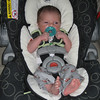getting ready for another outing.  i definitely fill up my car seat more than before.