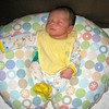 i love to sleep in my boppy!