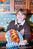 Spencer, with his braided loaf of bread.  Best viewed in the larger sizes