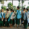 vietnam /village on the way to school