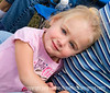 A portrait of a small girl taken at the touch football game