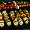 Let the grillin' begin!  So colorful, and so very tasty.  Marinated veggies on the grill.  Yum!