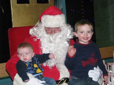 Michael's first Santa visit