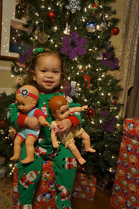 If Sophie's Christmas wish was for baby dolls and baby doll items, she certainly got what she wanted.  We counted 7 dolls in total!