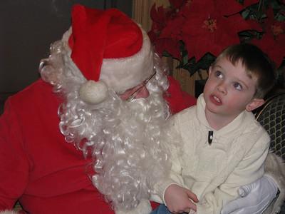 Telling Santa he wants a Bakugan