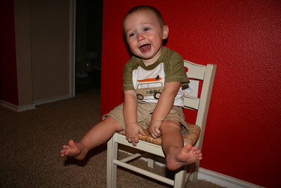 Cody's 11 Month Chair - September 2010