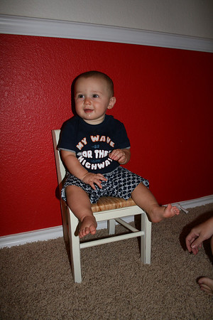 Cody's 9 Month Chair - July 2010