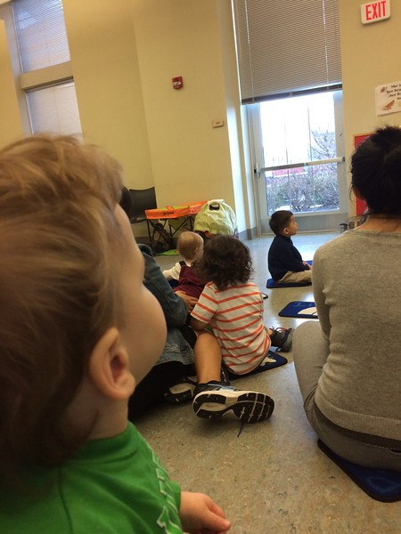 Story time at library.