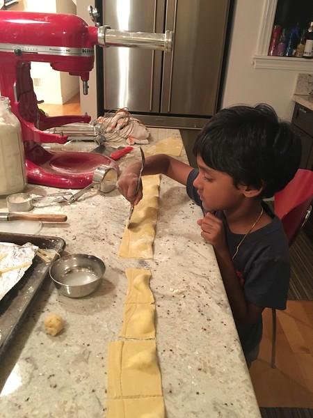 Cooking Arjun Pasta