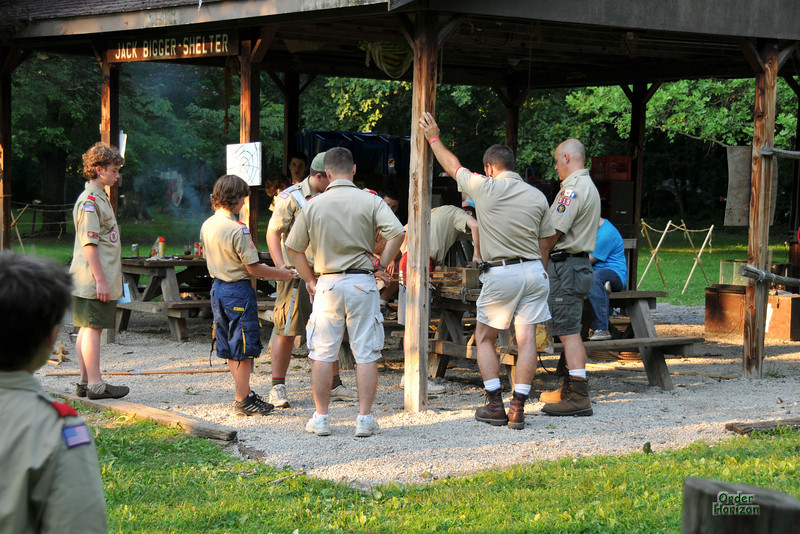 Boy Scout camp activity station