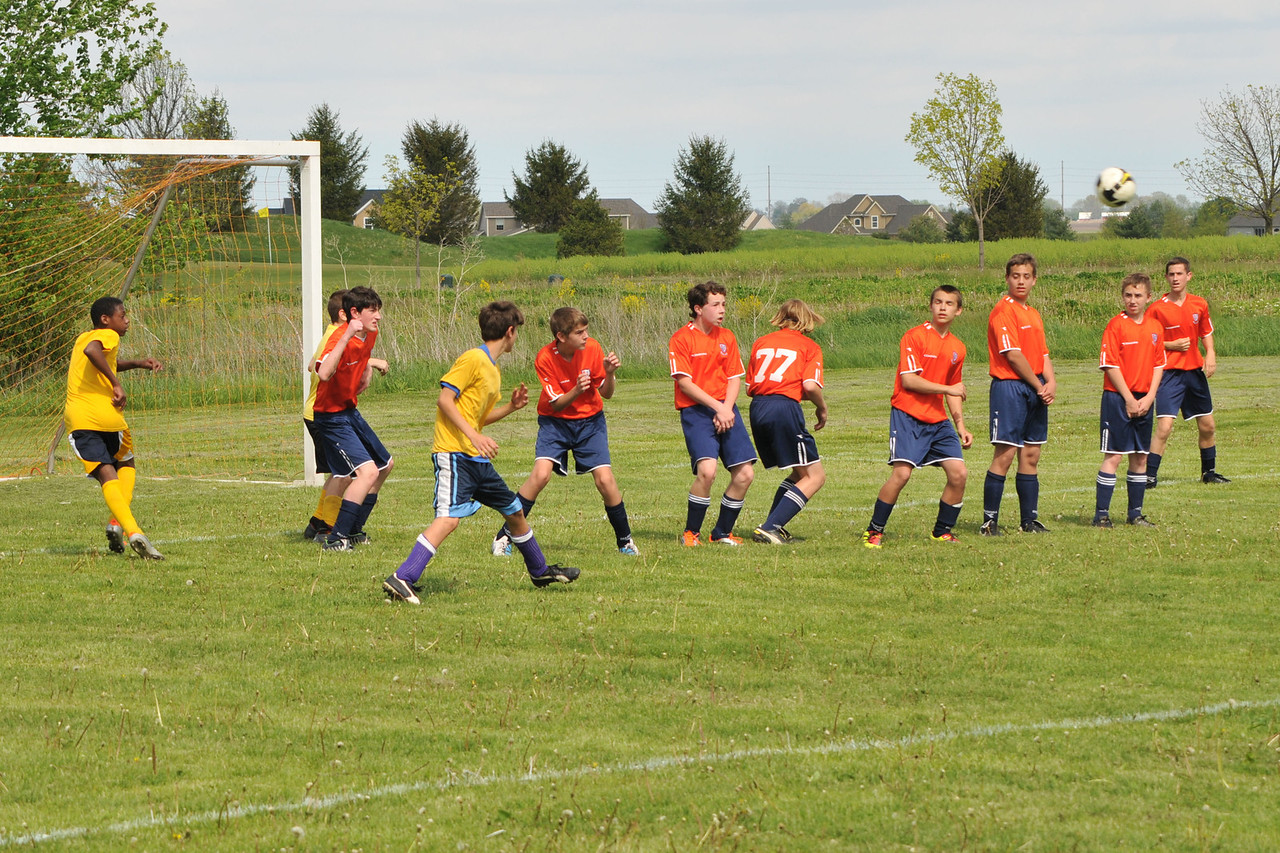 Lining up with opponents on a penalty kick