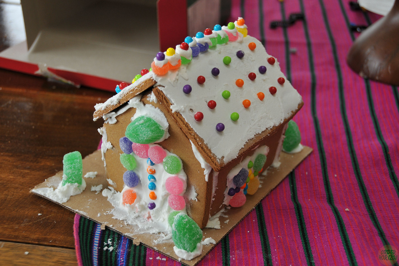 Corwin's ginger bread house (from kit)