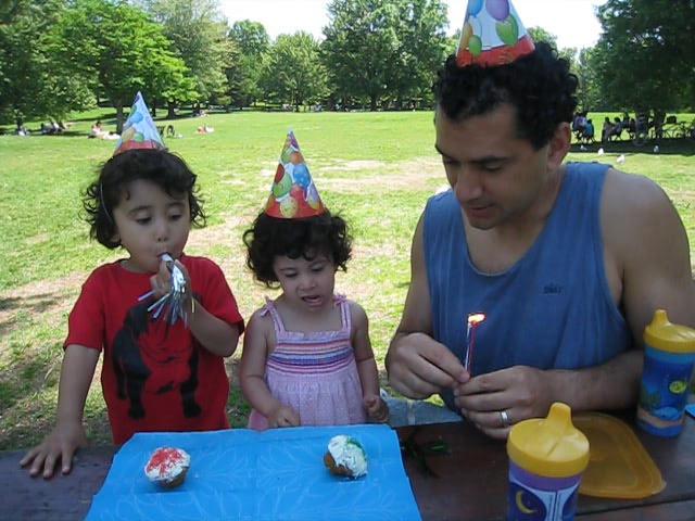 Singing happy birthday!  Can't believe Cyane is already 2.