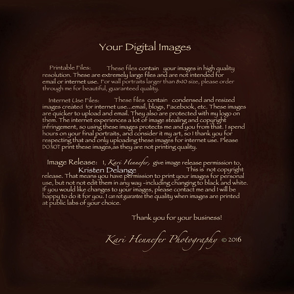 DeLange Digital Images Print Release