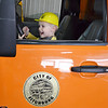 Zachary Niemi, 4, of Ashburnham beeps a horn during DPW Day on Wednesday afternoon. The event was put on by the Fitchburg Department of Public Works and ACE of Central MA. SENTINEL & ENTERPRISE / Ashley Green