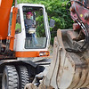 Angel Rivera, 8, of Fitchburg, operates the excavator during DPW Day on Wednesday afternoon. The event was put on by the Fitchburg Department of Public Works and ACE of Central MA. SENTINEL & ENTERPRISE / Ashley Green