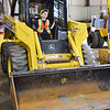 Caleb Hurley, 5, of Ashburnham, checks out some big machinery during DPW Day on Wednesday afternoon. The event was put on by the Fitchburg Department of Public Works and ACE of Central MA. SENTINEL & ENTERPRISE / Ashley Green
