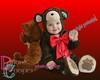985 beary buddies red-brown gradient