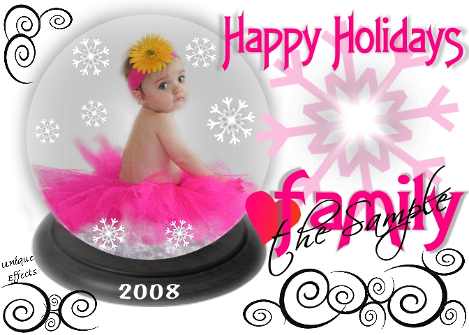 Any image can be put in a snow globe and I will coordinate the card colors with the image.