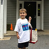 David's first day of preschool - look how happy he was.