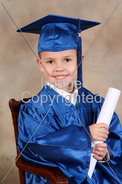 A very handsome preschool graduate.