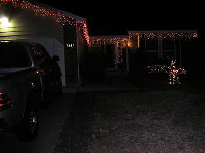 Daddy did a great job of decorating the house.