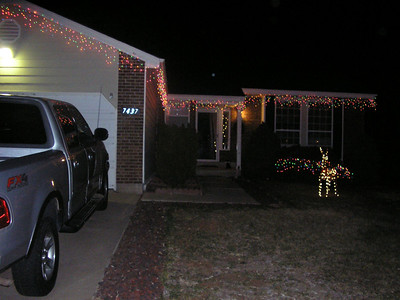 Another shot of the house, Alex is obsessed with Christmas Lights