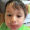 Chocolate mustache!
