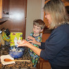 Chase helped Grandma Ginny make dumplings for the chicken and dumplings.