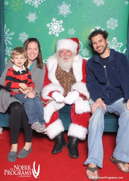 Chase was willing to see Santa this year, but he didn't want to sit with him by himself.  And Austin was asleep in his car seat and we didn't want to disturb him.