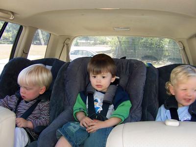 Declan, Noah and Callum get a haircut