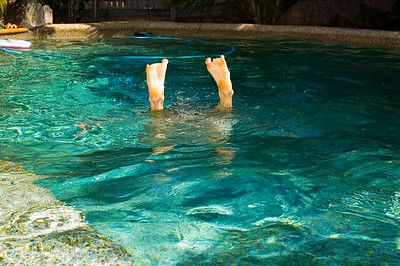 Declan Swimming at Sean and Dana's