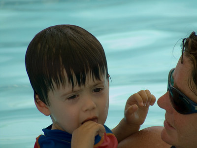 Declan's First Swimming Lesson