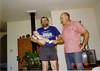 Douglas, Dad, and Grandpa Walton in Cloverdale