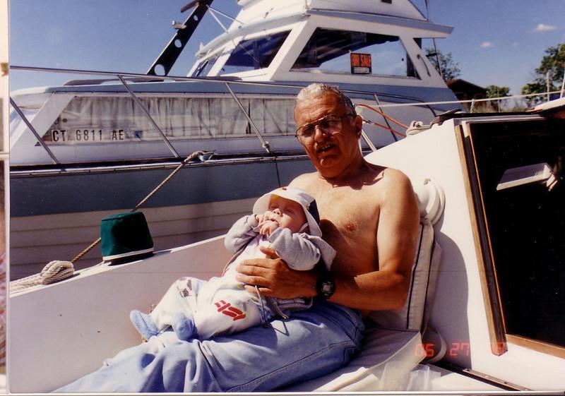 On Seaya in CT w/Grandpa Johnston