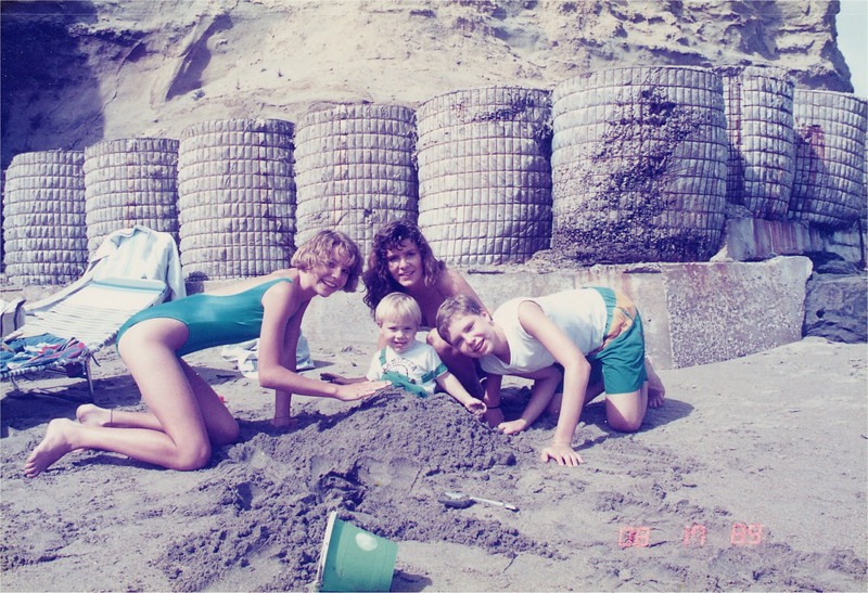 We rented a cottage at the beach in Capitola--1989?