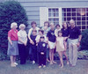 Grandma, Grandma Wilda, Aunt Laurie, John,Matt, Jackie, Mom w/you, John, Willa, Leah, Aunt Beth and Grandpa in front of the Tracosas house in Fairfield, CT