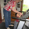 Walking on the treadmill with Grandma!