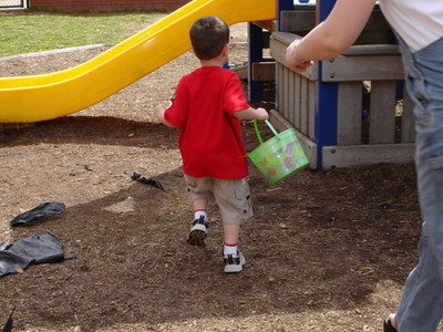 Easter Egg Hunt on the playground.