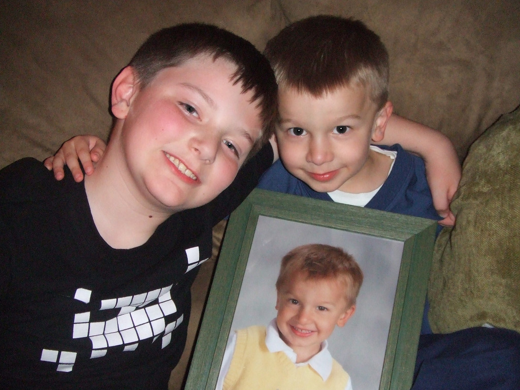 Alex and Connor....and Connor....Easter Eve at Nixons - 2009