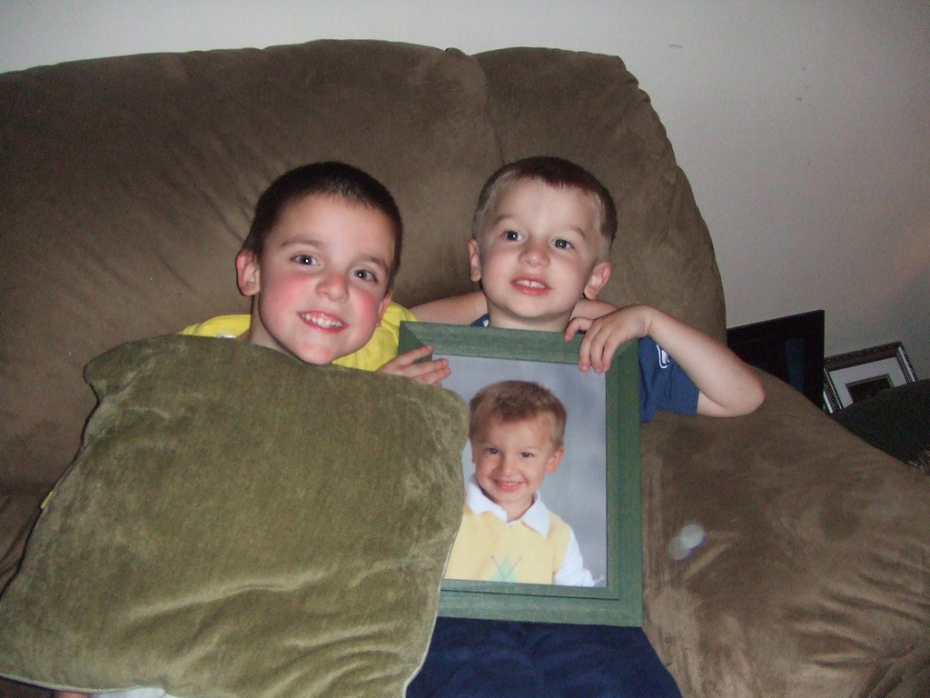 Jacob and Connor  - Easter Eve at Nixons - 2009