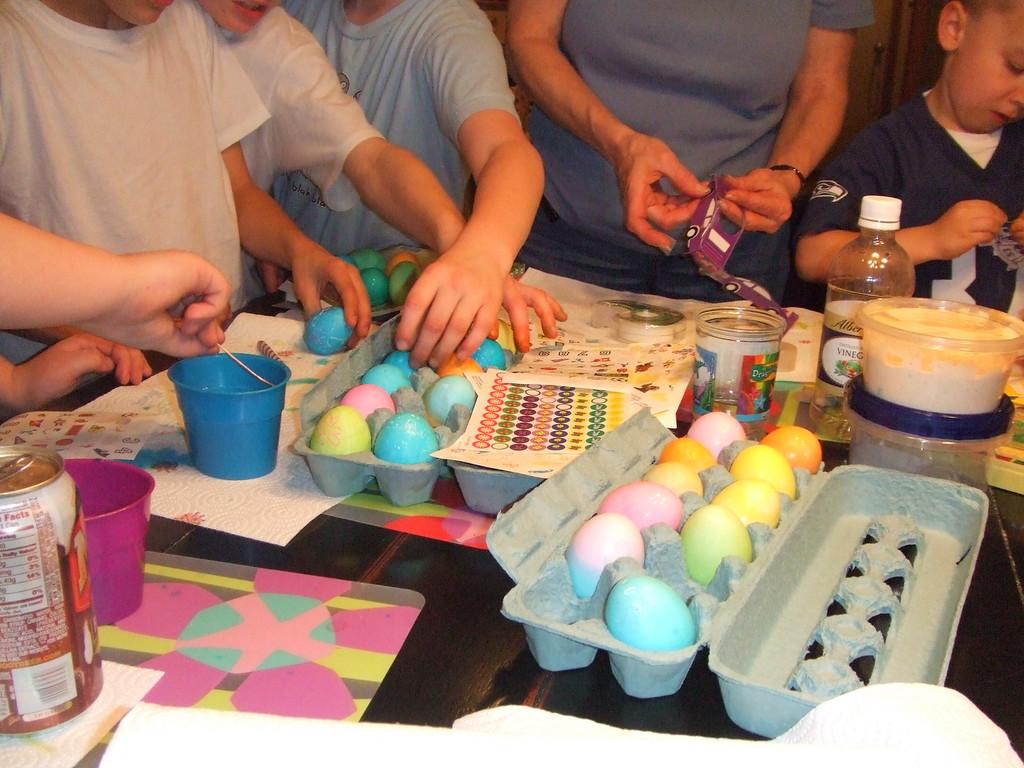 Egg assembly line  - Easter, 12Apr09