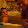 ...and splashed with Daddy!