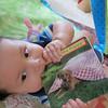 Baby loves books!