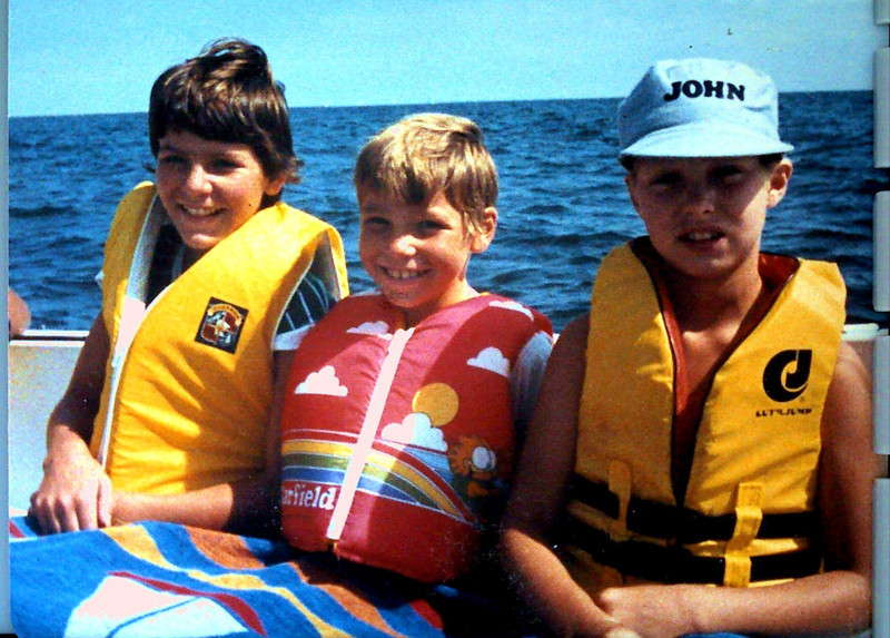 On Grandpa Johnston's boat Seaya