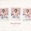 Emma 1st Birthday - ONE - 8x10 collage
